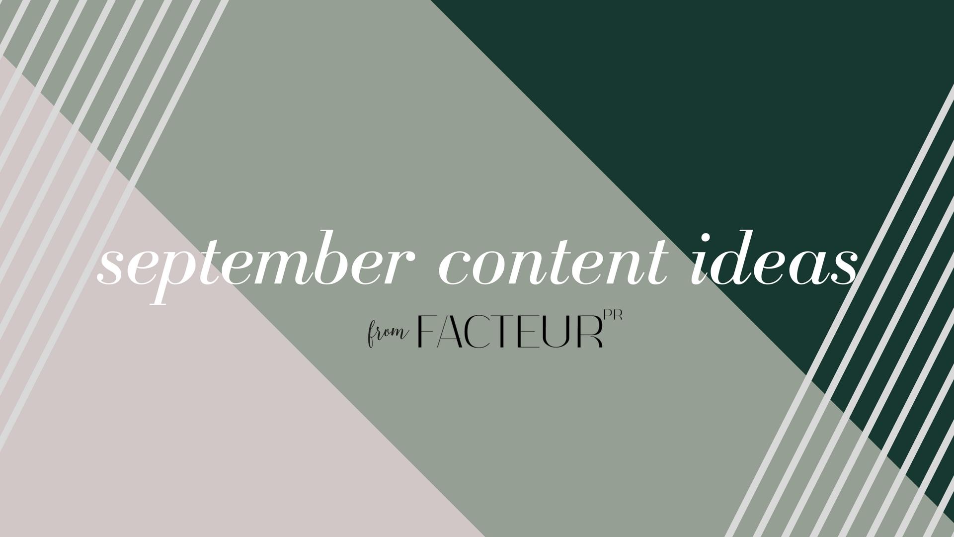 September content ideas