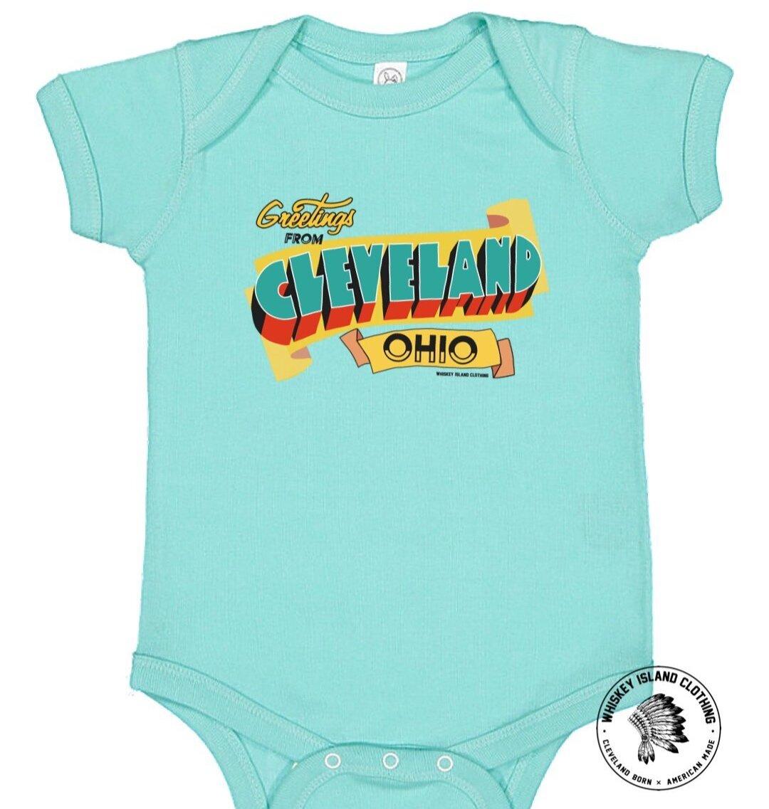 Whiskey Island Clothing baby onsie, $15