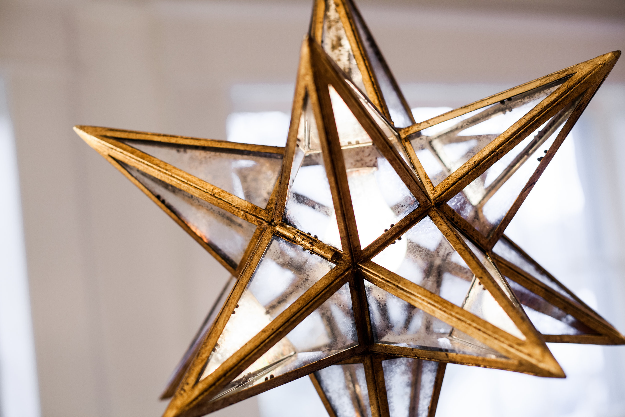 Moravian Large Star in Gilded Iron with Antique Mirror 2.jpg