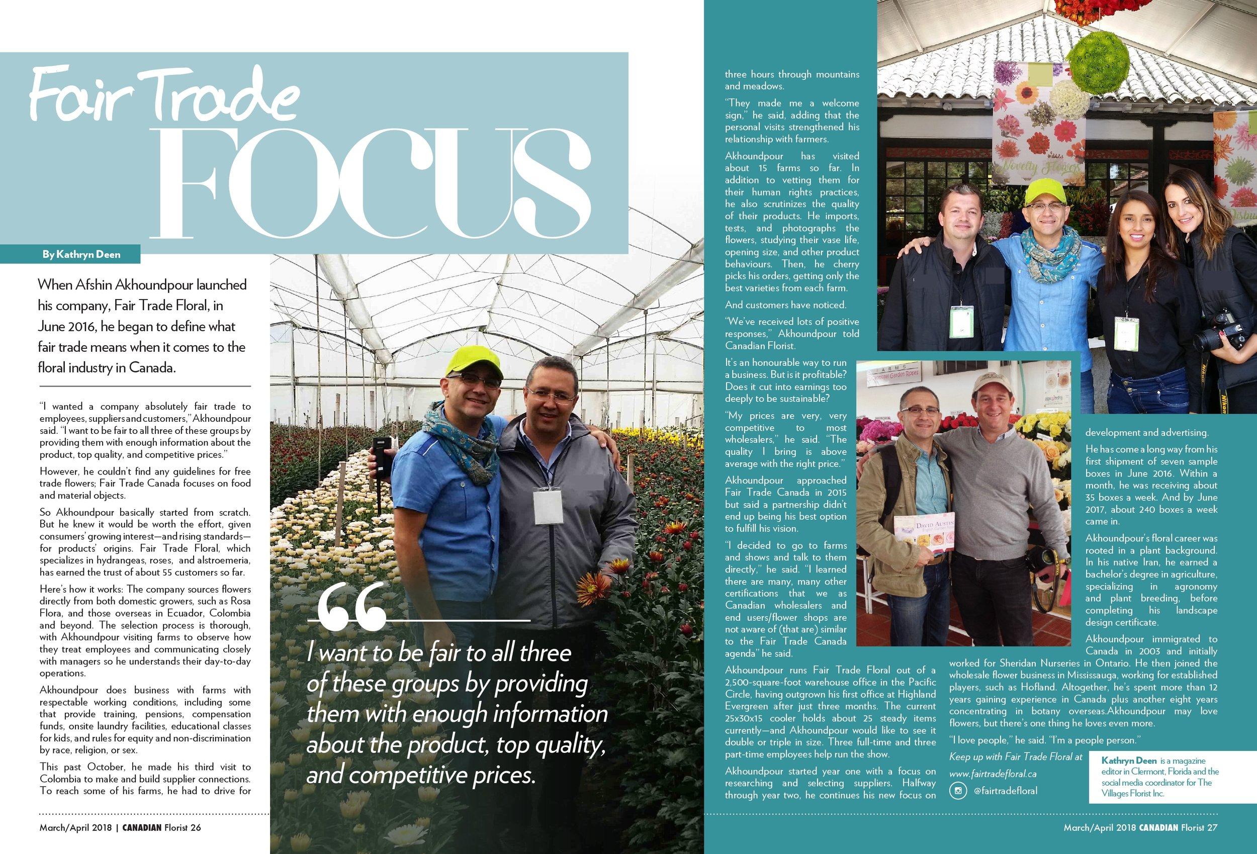 Jan 2018 - Canadian Florist Magazine
