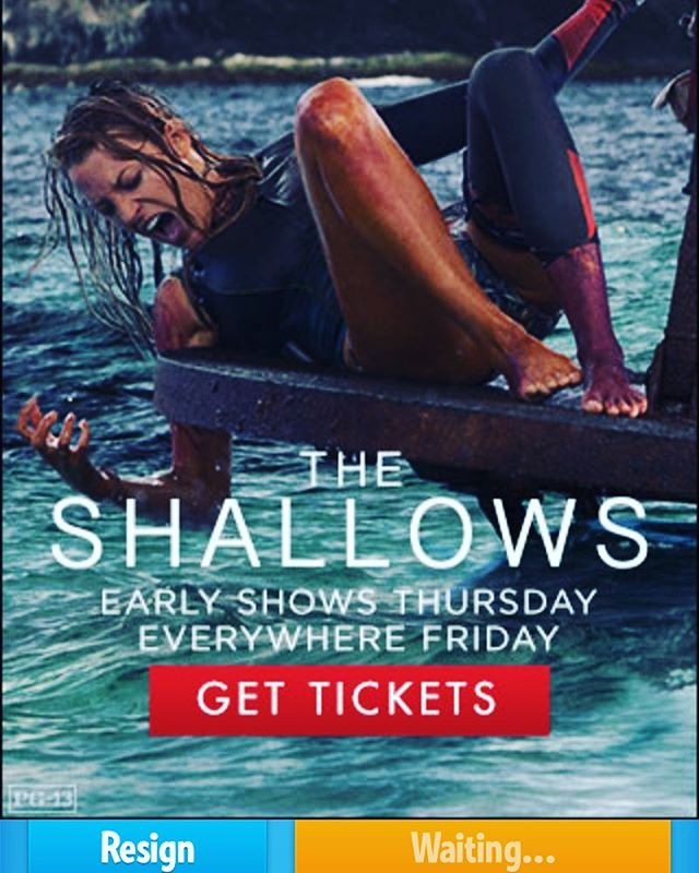Pop-up ad on #ruzzle by @sonypictures!! #theshallowsmovie #feartheshallows #june24
