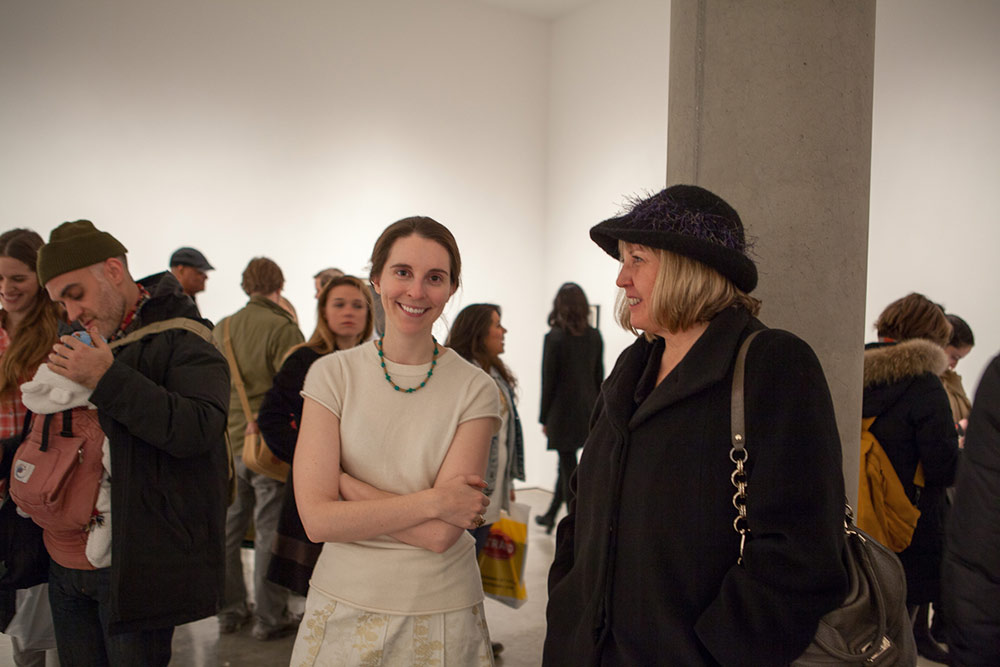 Gallery Goers at Chris McCaw's Marking Time