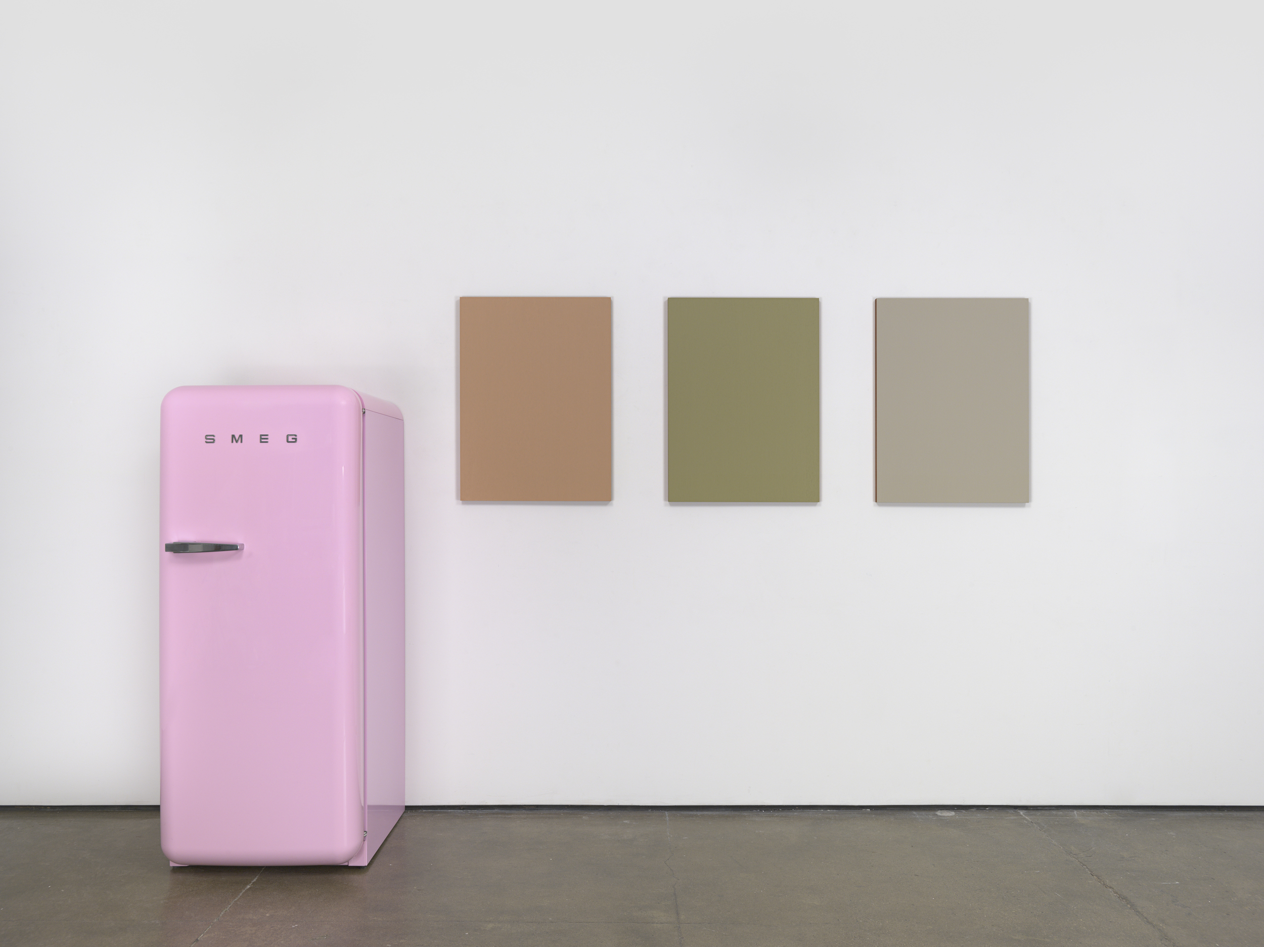 Image Above: ©Sherrie Levine, Pink SMEG Refrigerator and Renoir Nudes, 2016 / Courtesy David Zwirner, New York