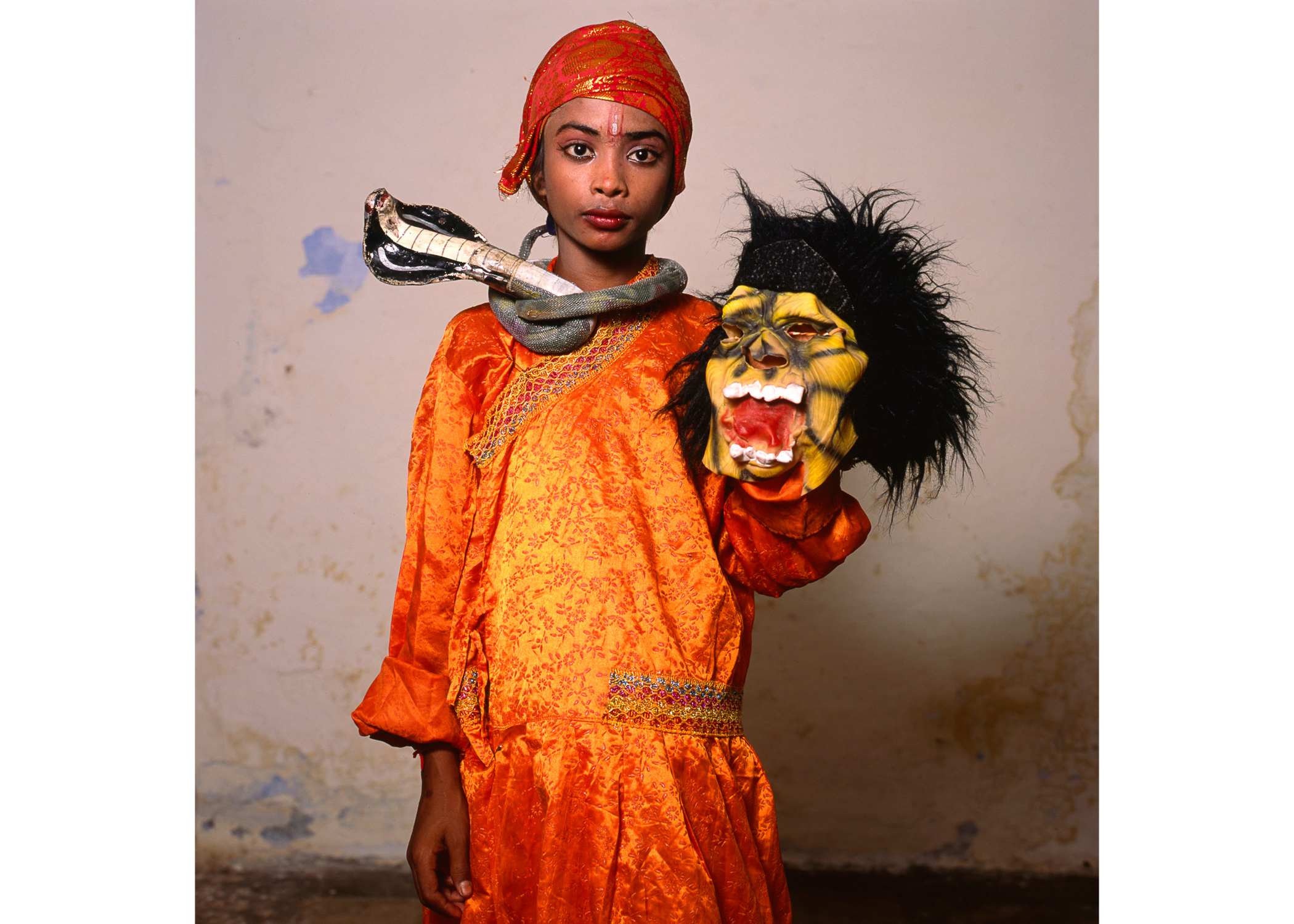 "Image above: ©Phyllis Galembo, Child with Monster Mask, India, 2014, 30 x 30"" Fujiflex print / Courtesy of sepiaEYE Gallery"