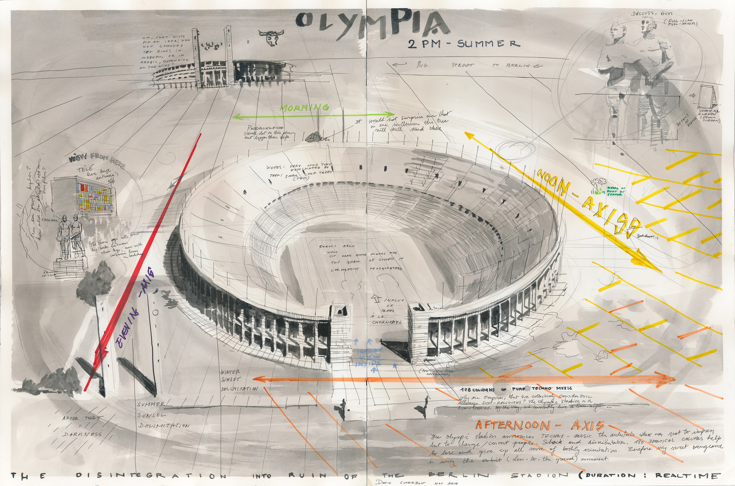 DC-35 Olympia Stadion drawing (2PM summer), 2014