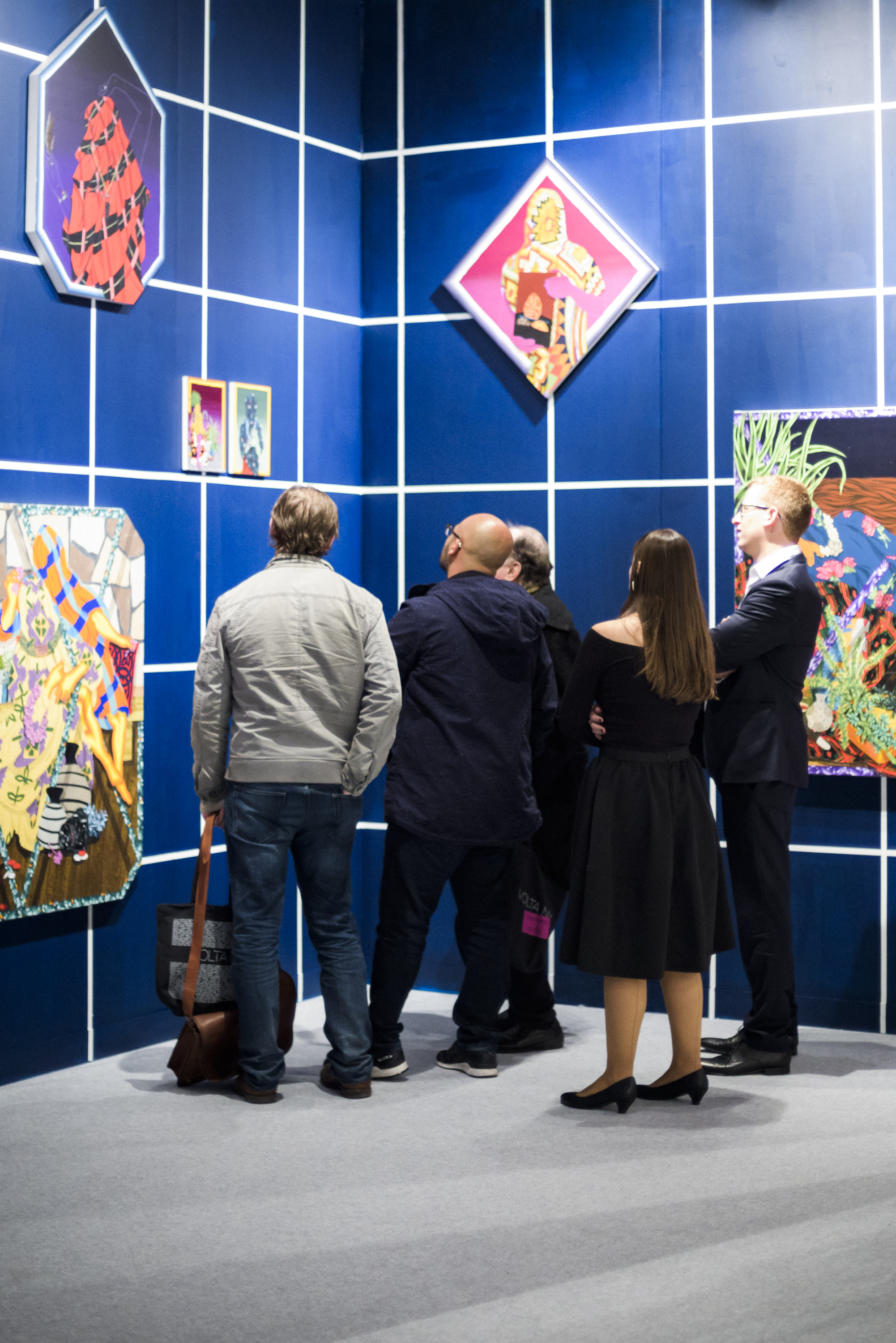 GORDON GALLERY, WORK OF AMIR H. FALLAH, AT THE INVITATIONAL SOLO PROJECT FAIR FOR CONTEMPORARY ART AT PIER 90, ON MARCH 2ND, 2016.