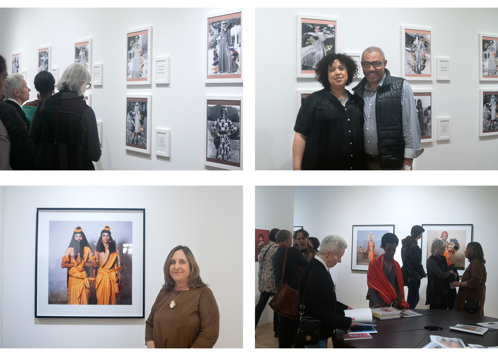 Image above: ©Sang Ha Park, Opening Night, Top right: Qiana Mestrich with her husband, Bottom left: Phyllis Galembo