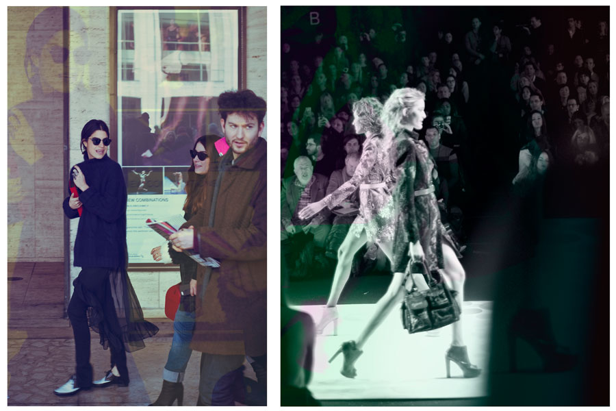 Fashion blogger Leandre Medine after BCBG by Max Azria show