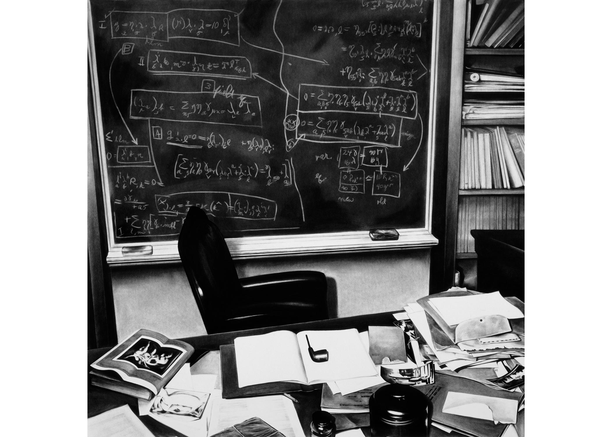 Image Above: ©Robert Longo, 'Einstein's Deks (Princeton),' 2004 / Courtesy of the Artist