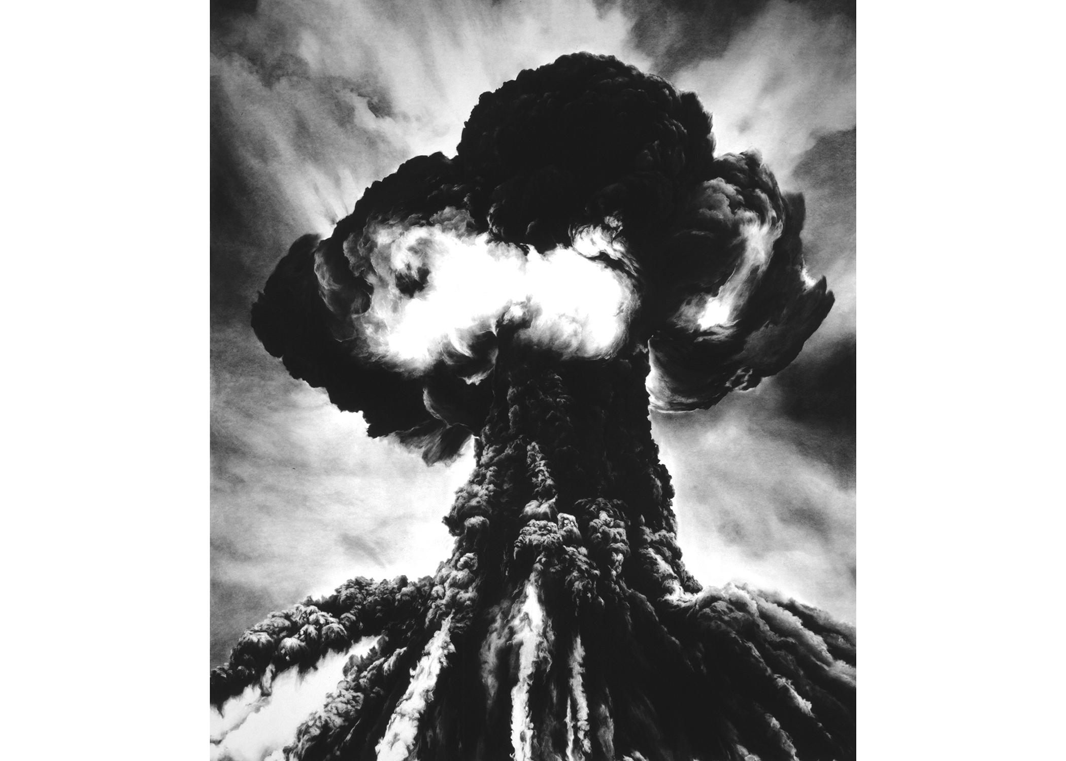 Image Above: ©Robert Longo, 'Untitled (Russian Bomb / Semipalatinsk), 2003 / Courtesy of the Artist