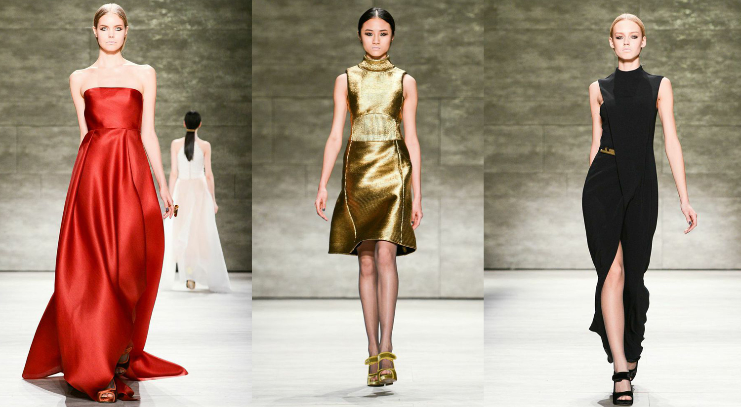 Image above:Images courtesy of Billy Farrell Agency at Fashion Week 2015.