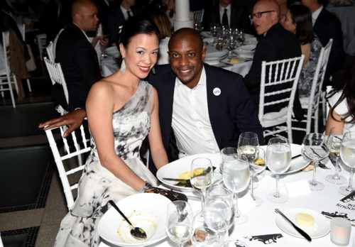 Image above: Carla Shen and Hank Willis Thomas, Photo by Nicholas Hunt/Getty Images for Brooklyn Museum