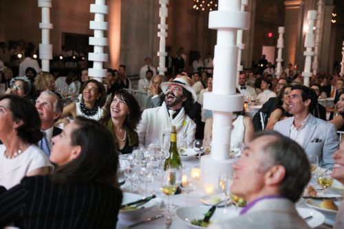 Image above: Dinner scene at the 2016 Brooklyn Artists Ball,  Credit: Rebecca Smeyne for the Brooklyn Museum.