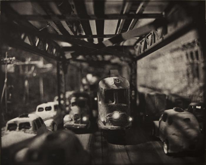 Image above: ©Lothar Osterburg, Under the El, 2011 Ed. 1/8 Photogravure on Somerset Soft White