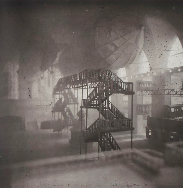 Image above: ©Lothar Osterburg, Zeppelins Docking at Grand Central, 2013 Ed. 5/2 AP Photogravure with gampi chine colle on somerset white