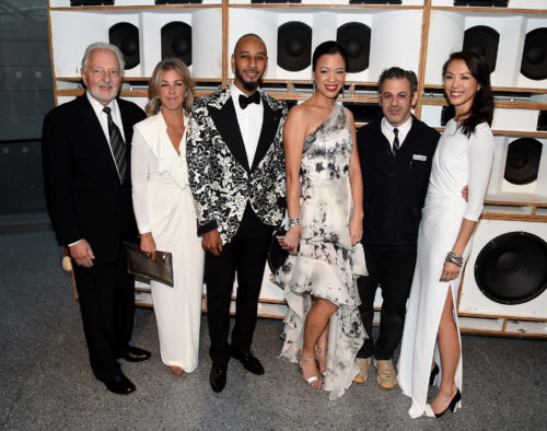 Image above: Norman Feinberg, Stephanie Ingrassia, Swizz Beatz,Carla Shen, Tom Sachs and Olivia Song, Photo by Nicholas Hunt/Getty Images for Brooklyn Museum