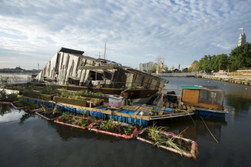 Image above: Mary Mattingly (American, born 1978),  WetLand  , 2014.  Modified houseboat,  204 x 540 x 144 inches.  Courtesy Mary Mattingly.  Photo © Jacques-Jean Tiziou