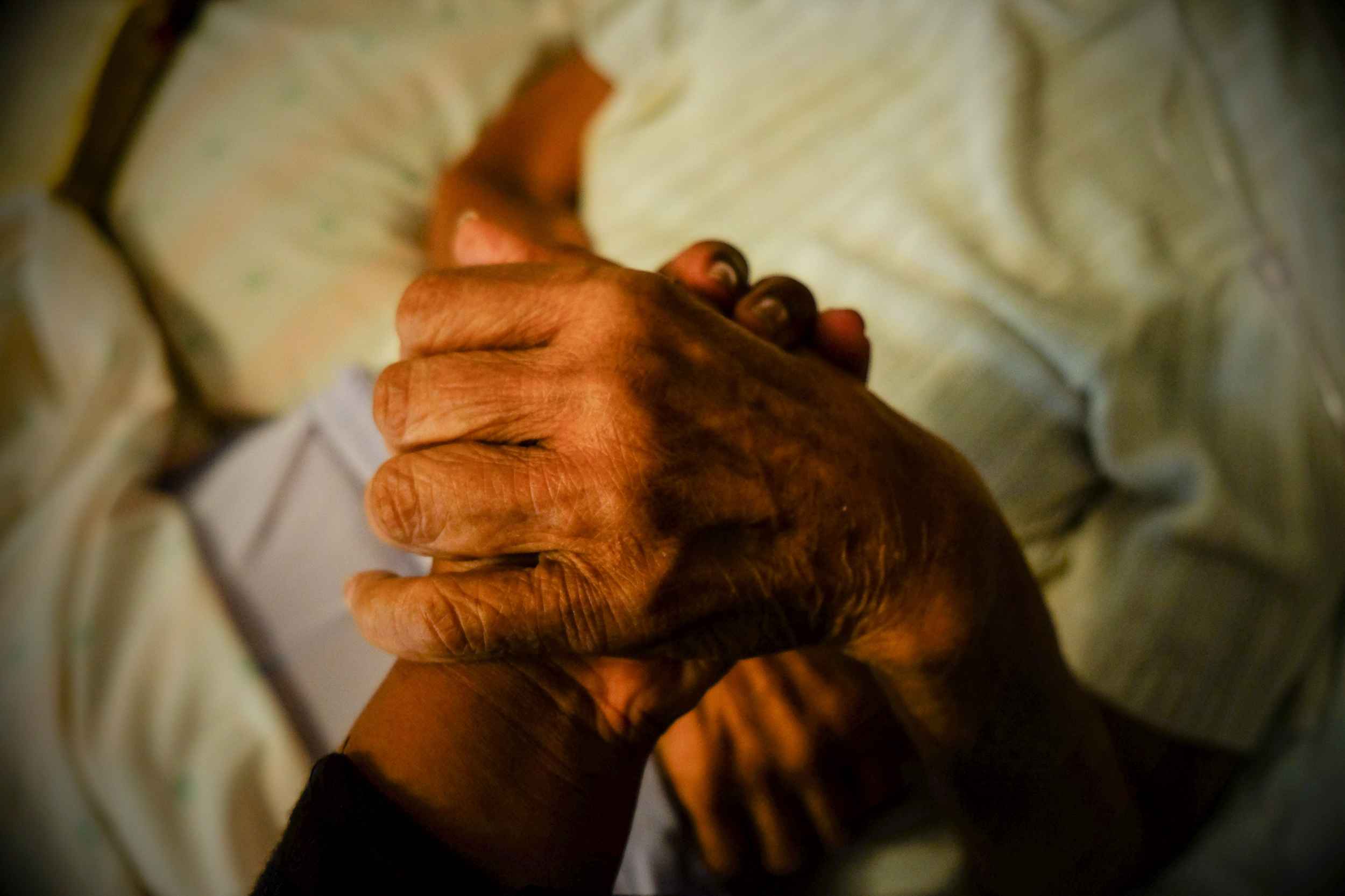 Grandma was in excruciating pain and could barely breathe, but asked to hold my hand and for me to pray over her. This was the second night of my arrival. My grandma passed away a week later, Dalark, Arkansas.