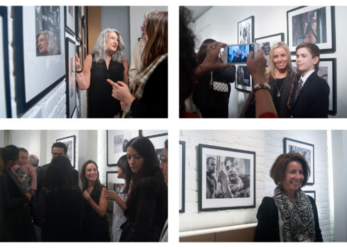 Image above: ©Sang Ha Park, Opening Night Top left: Ann Steiner, Top right: Jennifer Moon Kozslowski with her son, Bottom left: Pamela Padilla, Bottom right:Margarita Mavromichalis