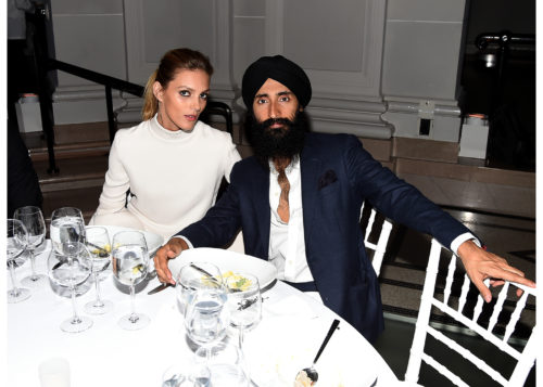 Image above: Anja Rubik and Waris Ahluwalia, Photo by Nicholas Hunt/Getty Images for Brooklyn Museum