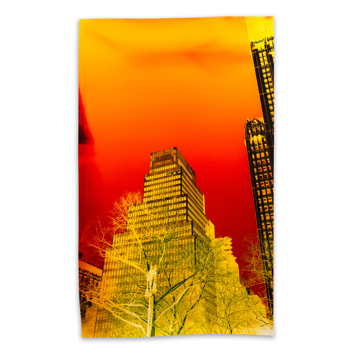 Image above: John Chiara, Park Row at Frankfort Street, 2016, Negative Chromogenic Photograph, Unique, © John Chiara, Courtesy Yossi Milo Gallery, New York