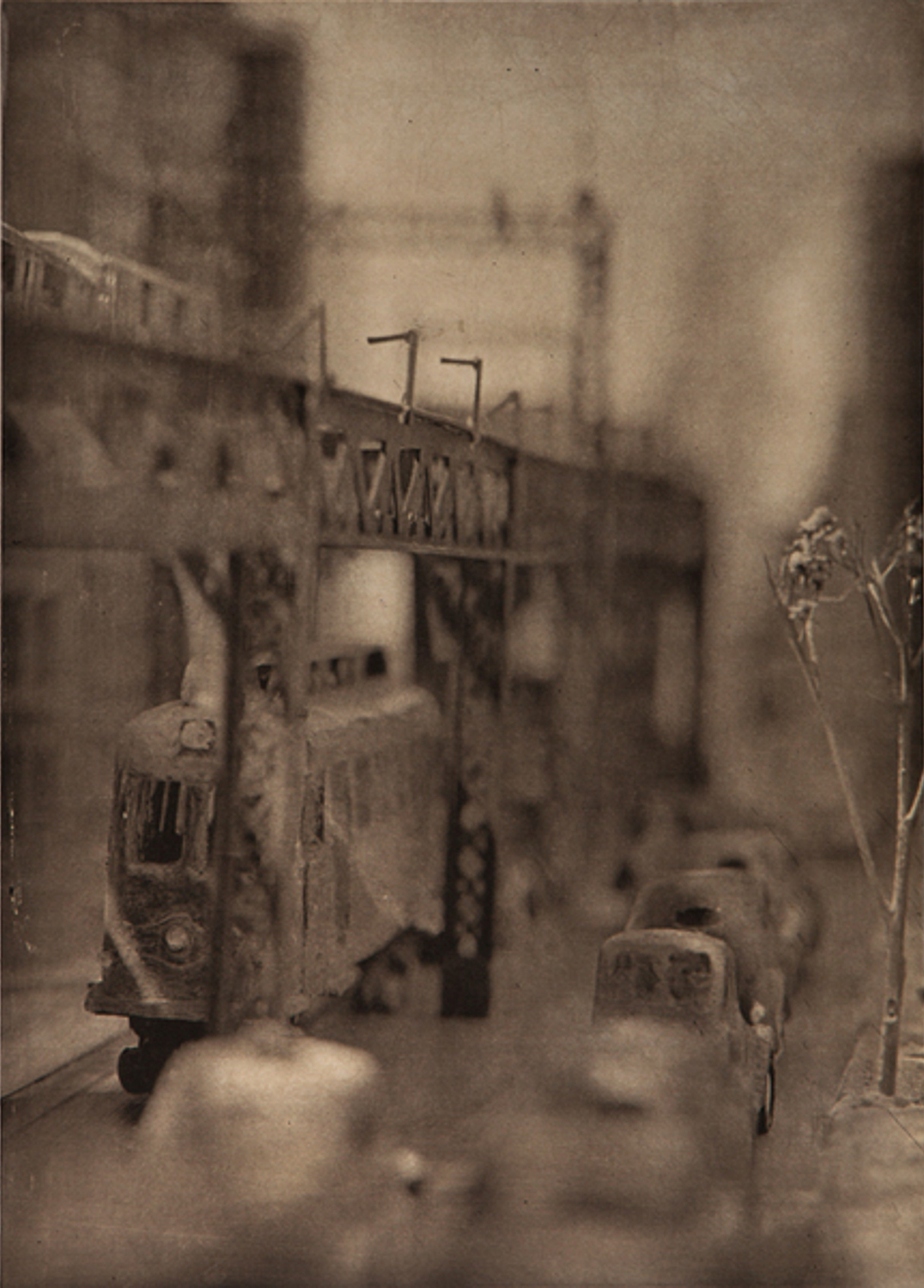 Image above: ©Lothar Osterburg, Streetcar of Lonliness, 2011 Ed. 1/7, Photogravure with gampi chine colle on somerset white