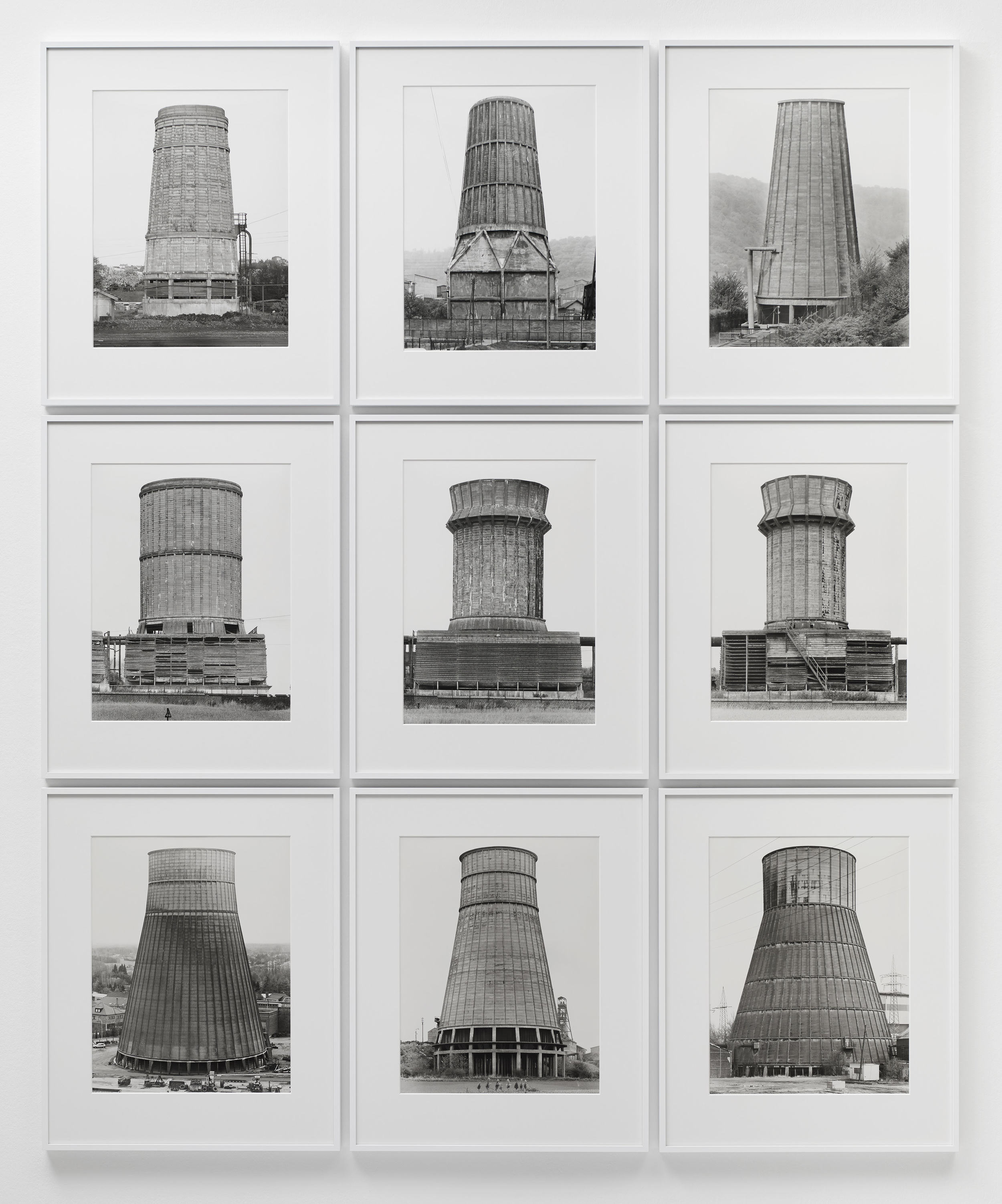 Image Above: Bernd and Hilla Becher,  Cooling Towers . 1967-84