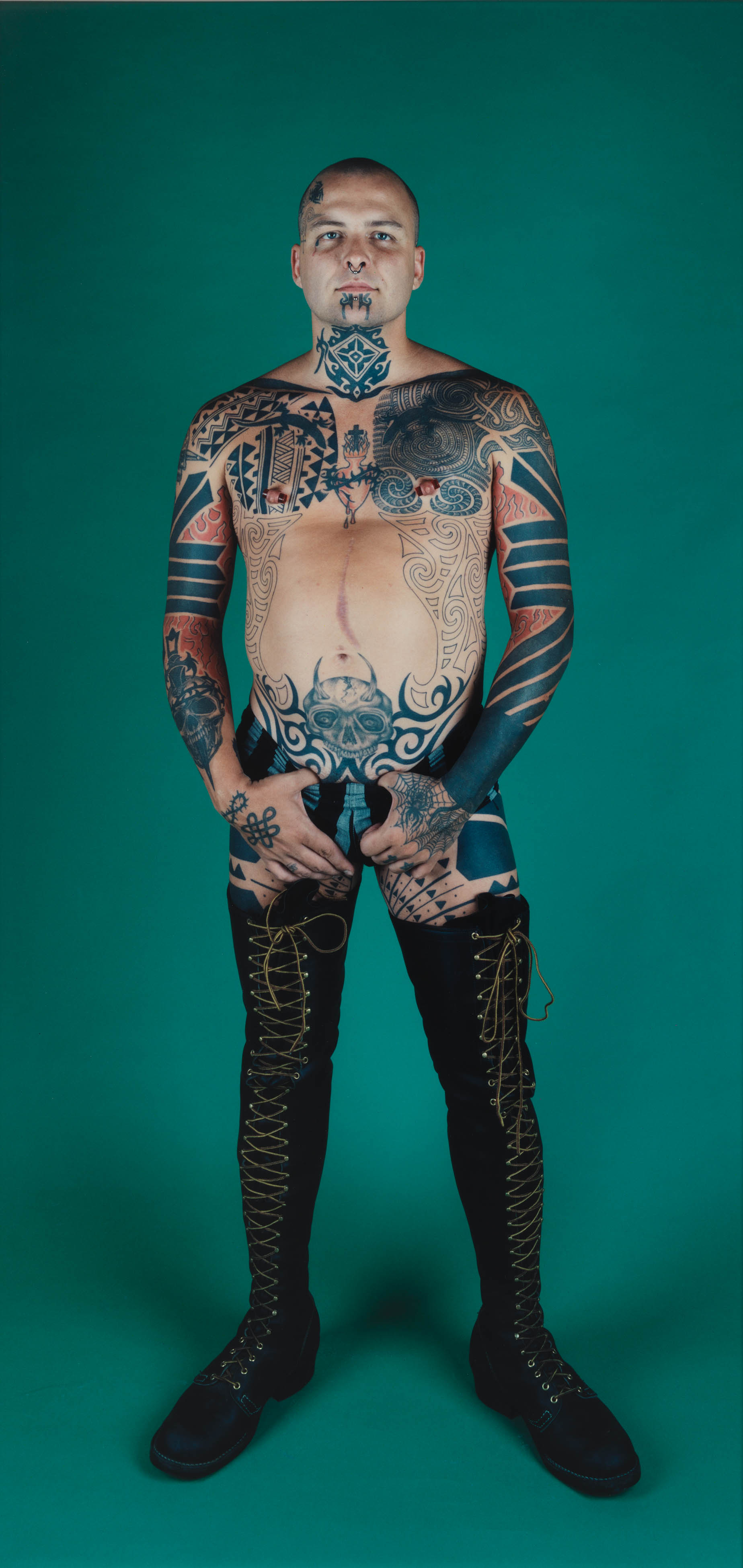 Image above:Ron Athey, 1994. Chromogenic print. Whitney Museum of American Art, New York; Gift of Norman Dubrow. © Catherine Opie. Courtesy Regen Projects, Los Angeles