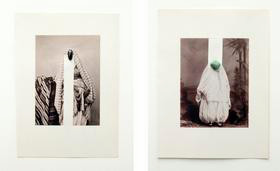 """Image above: ©Nino Cais, Untitled, From the series """"Images of Orient,"""" 2014, stone and scraping on offset print"""