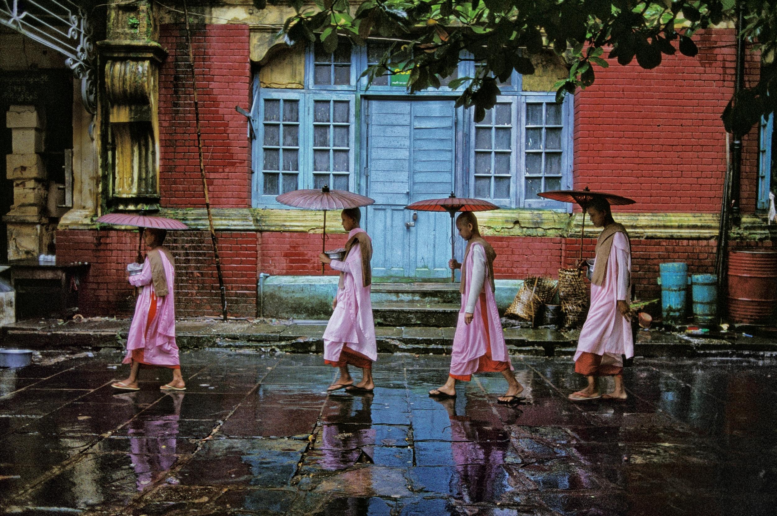 Image above: ©Steve McCurry,Procession of Nuns, Rangoon, 1994, ultrachrome print