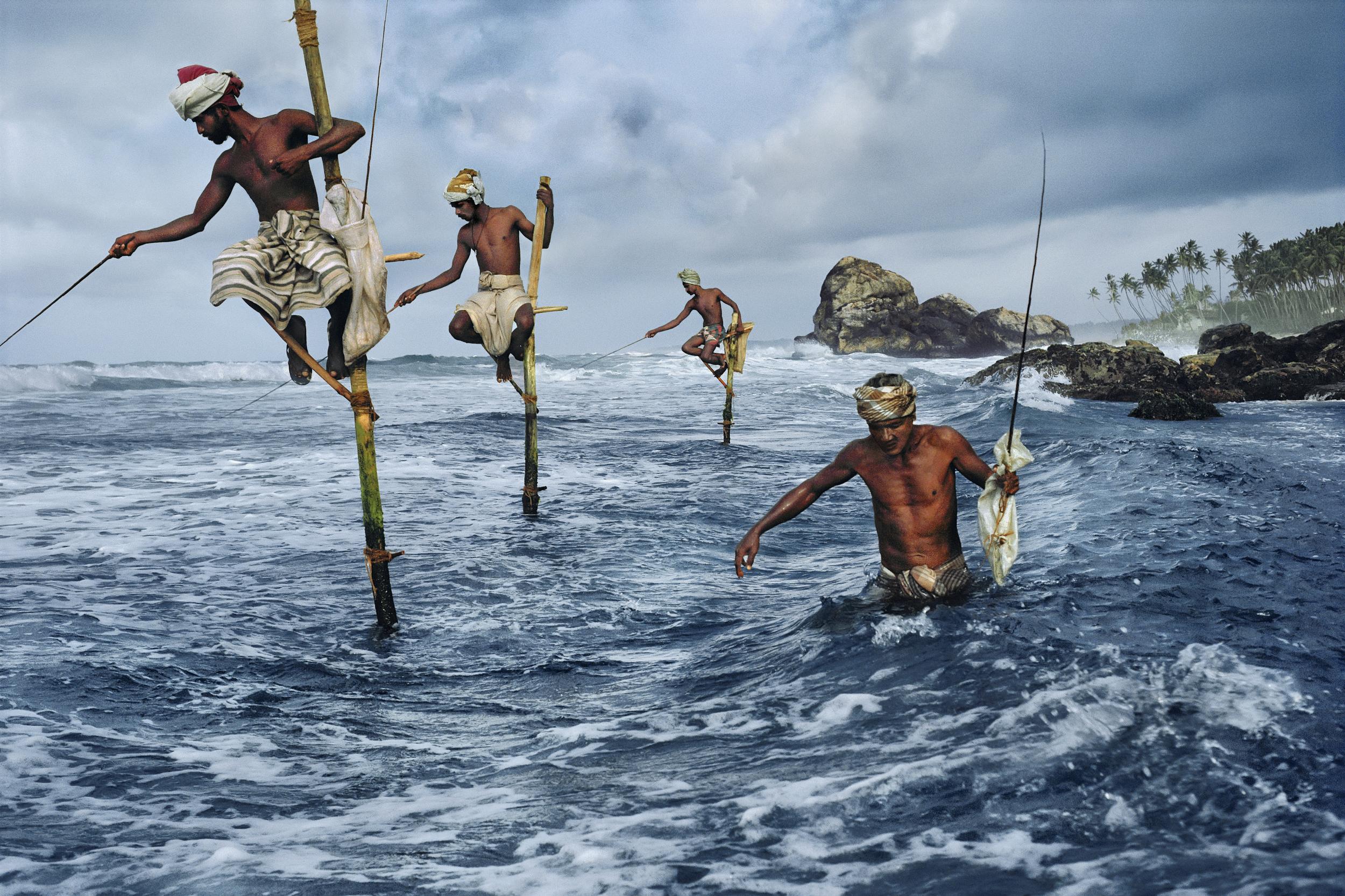 Image above: ©Steve McCurry, Stilt Fishermen, South Coast, Sri Lanka, 1995, chromogenic print on Fuji Crystal,Archive paper