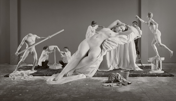 Image above: ©ELEANOR ANTIN,Constructing Helen (from Helen's Odyssey), 2007,Chromogenic print,68 x 119 inches /Courtesy Ronald Feldman Fine Arts