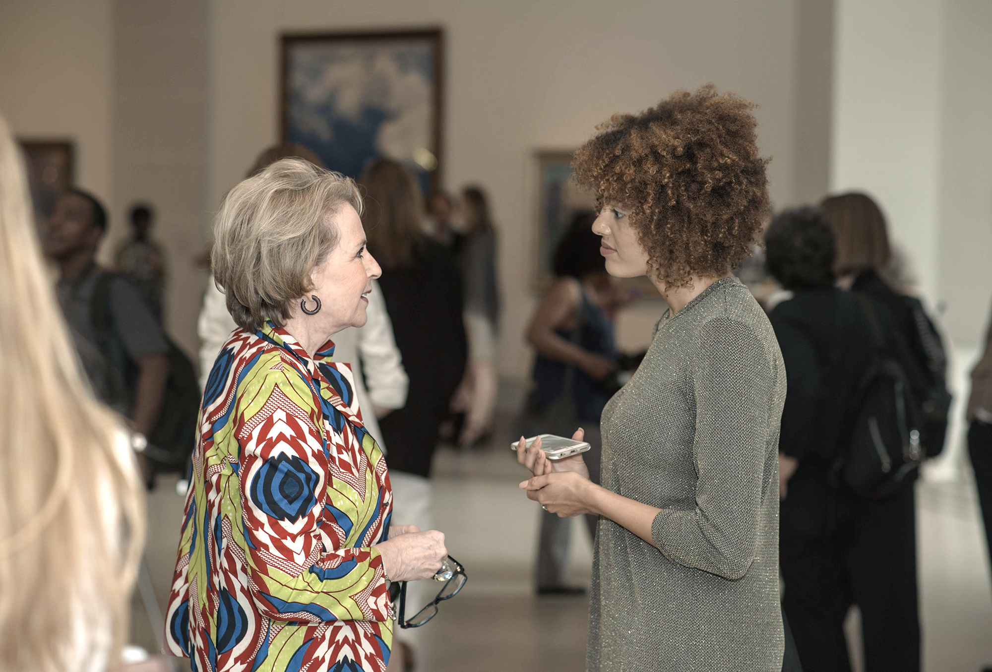 Elizabeth Sackler & Guest;  Photograph ©Malcolm D. Anderson