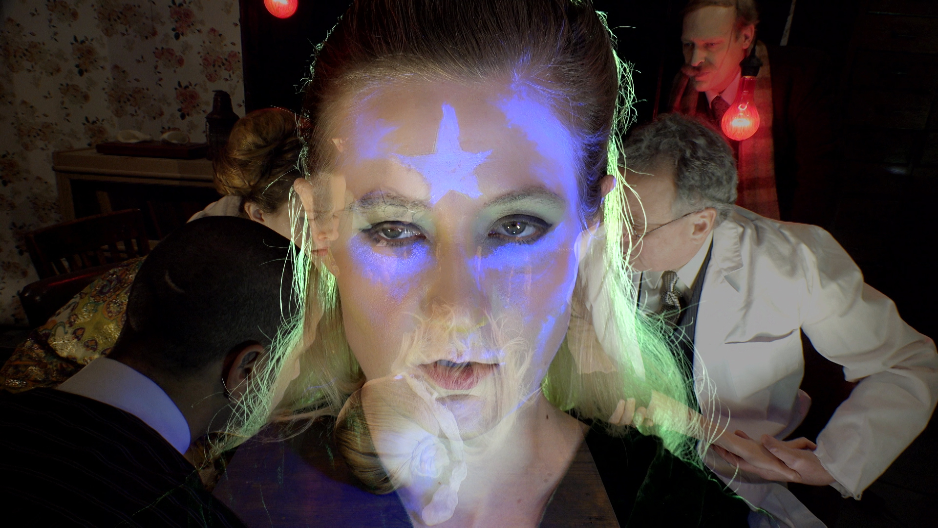 Tony Oursler. Still from   Imponderable  . 2015–16. 5-D multimedia installation (color, sound). 90 min. © 2016 Tony Oursler. The Museum of Modern Art, New York. Acquired in part through the generosity of Jill and Peter Kraus.