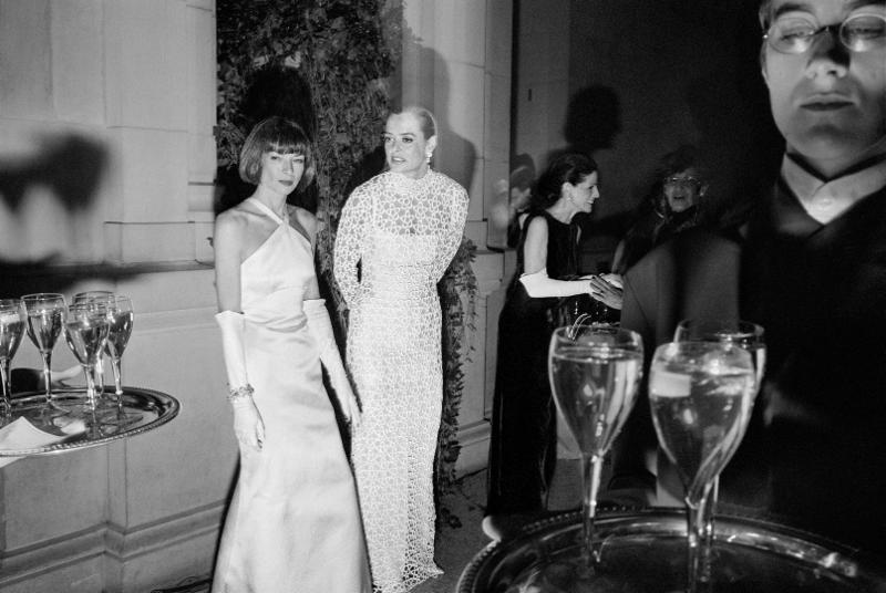 Miles Ladin,  Anna Wintour, Clarissa Bronfman and Annette de la Renta at the Metropolitan Museum of Art's Costume Institute   Gala, NYC , 1995.  Copyright of the artist.  WE:AMEricans  @ Station Independent Projects, NYC