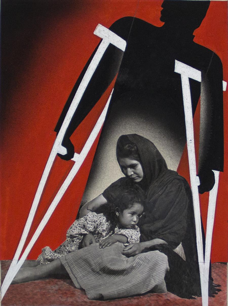 Kati and José Horna, c. 1944, Cuidado! En su Trabajo de Usted Dependen (Poster Mock-up), Mixed media. Private collection, Mexico City. © 2005 Ana María Norah Horna y Fernández