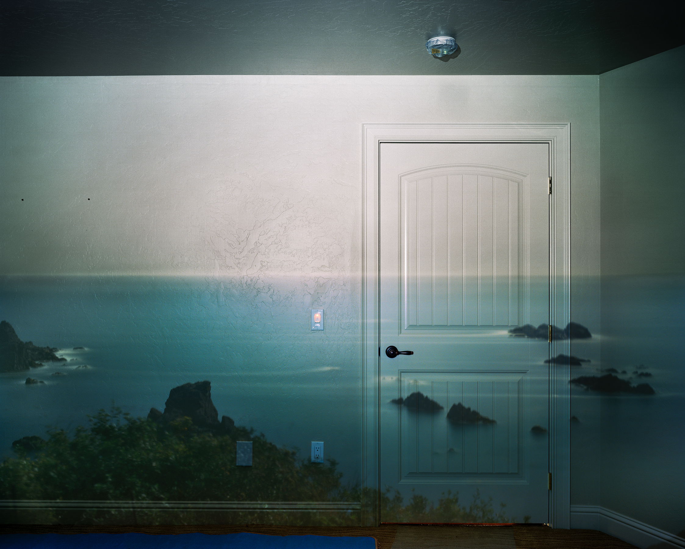 Abelard Morell,  Camera Obscura: Afternoon Light On The Pacific Ocean, Brookyngs, Oregon , July 13th, 2009.