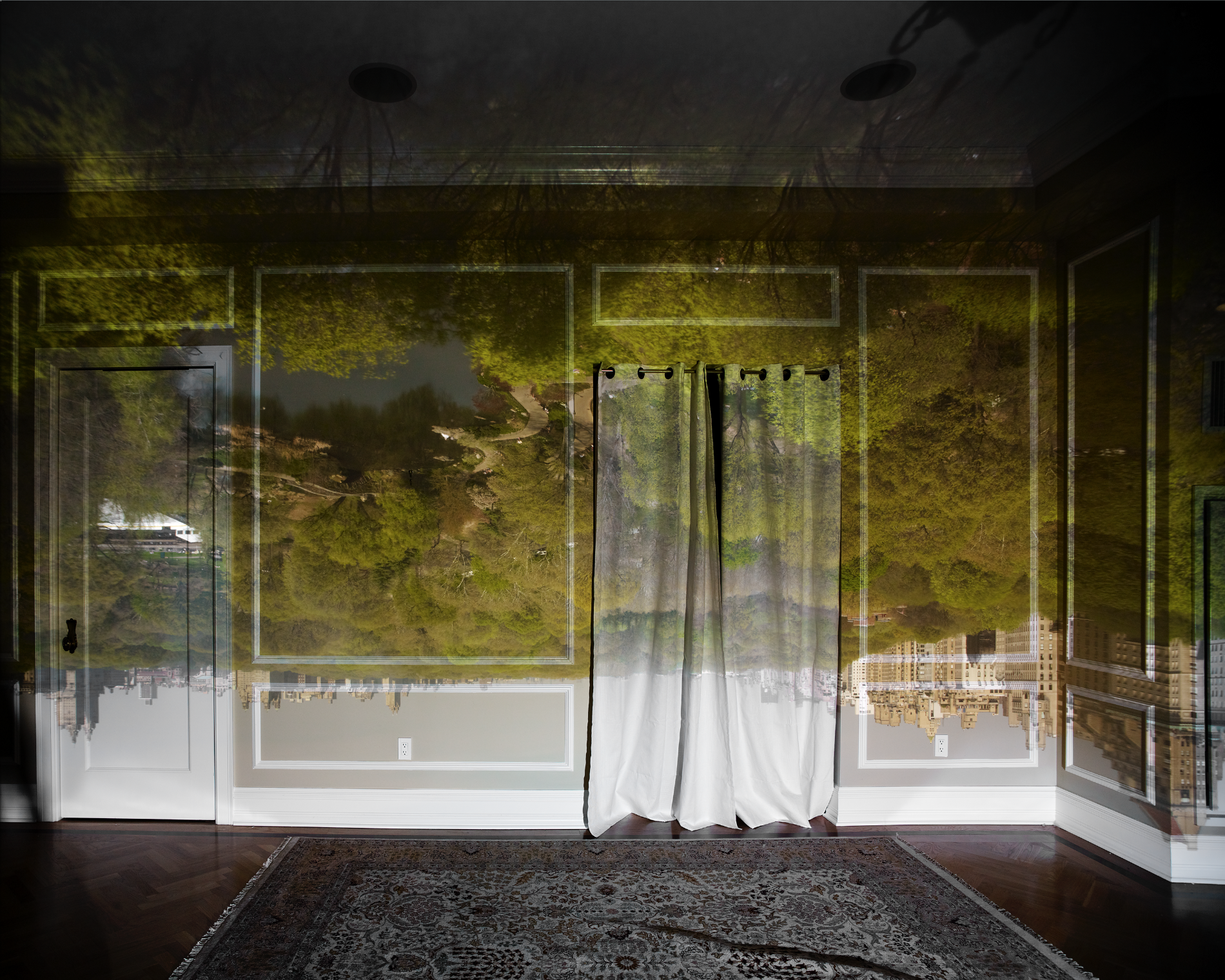 Abelardo Morell, Camera Obscura:  View of Central Park Looking North  -  Spring , 2010.