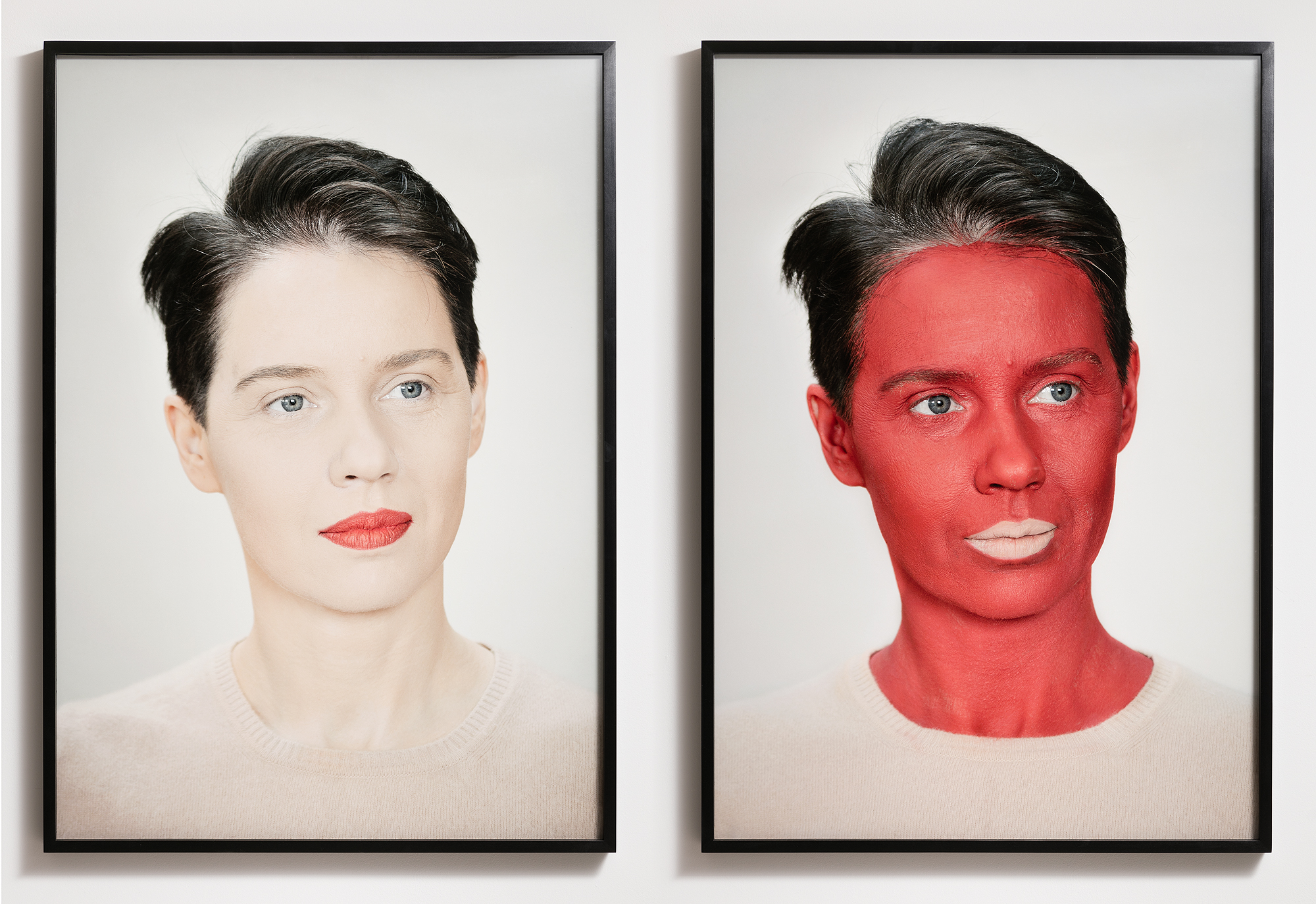 Aneta Grzeszykowska    Negative Make Up , 2016    Archival print on cotton paper   39.37 x 27.56 inches each (100 x 70 cm each)    Edition 1 of 3 + 1 A.P.   AG/566