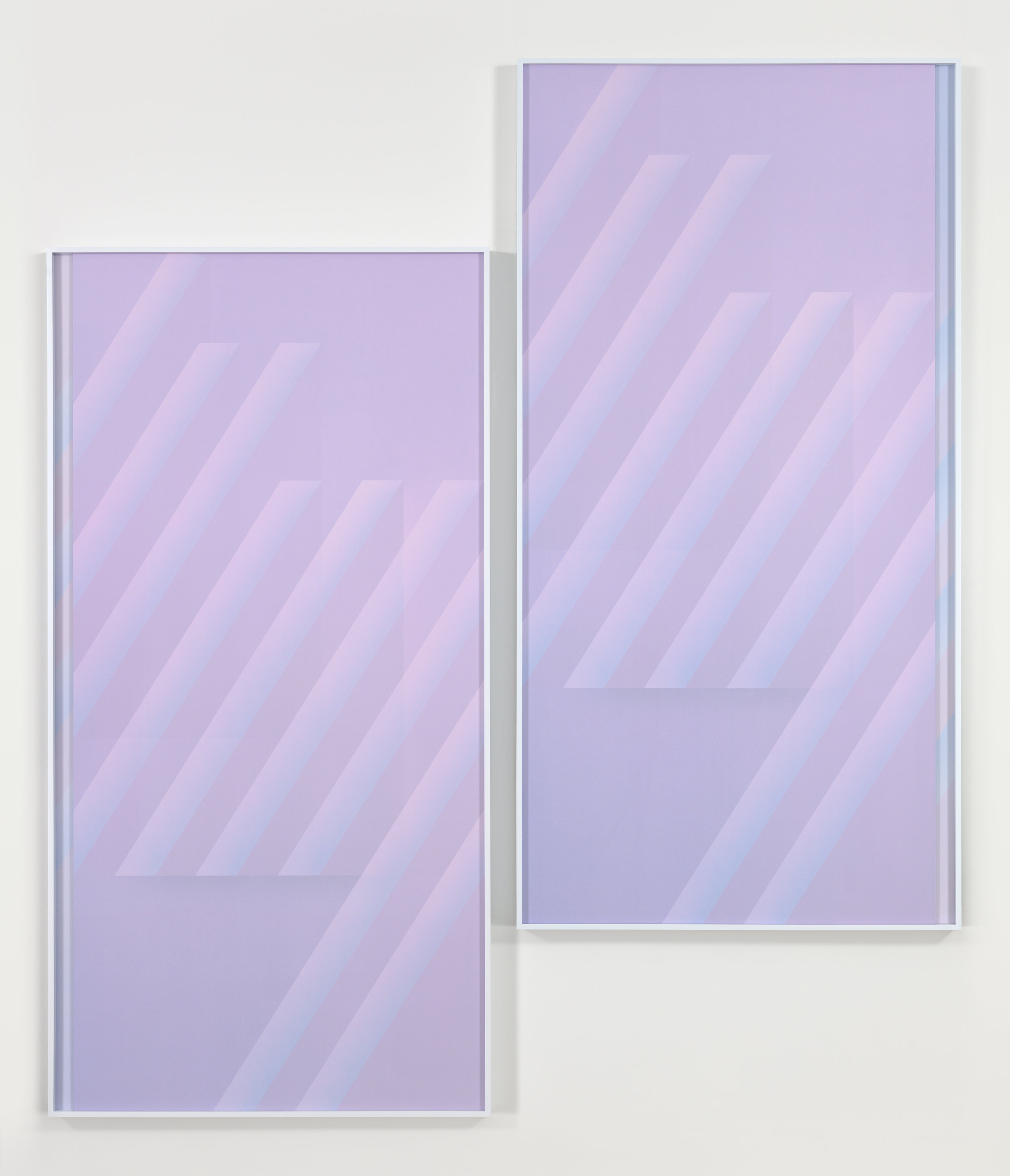 Eternal Triangle, Dusk, 2016  diptych; 2 digital c-prints each  96 7/8 x 48 7/8 inches (each framed)  246.1 x 124.1 cm  107 7/8 x 100 3/4 inches (overall)  274 x 255.9 cm  Edition of 3, 2 APs  Courtesy of the artist and Metro Pictures, New York