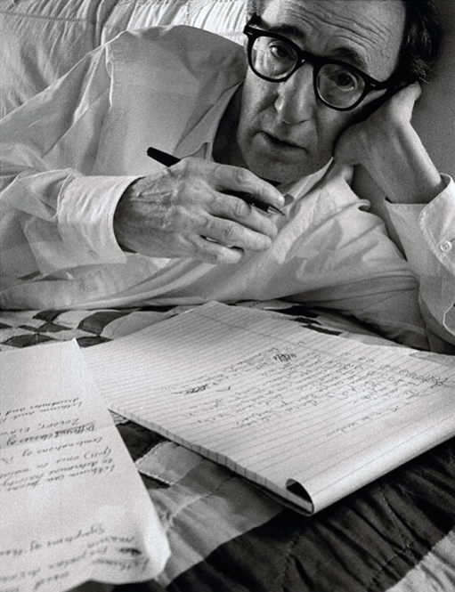 """""""Woody Allen, New York, New York"""" (1996), Photograph by Arnold Newman. ©Arnold Newman Properties/Getty Images"""