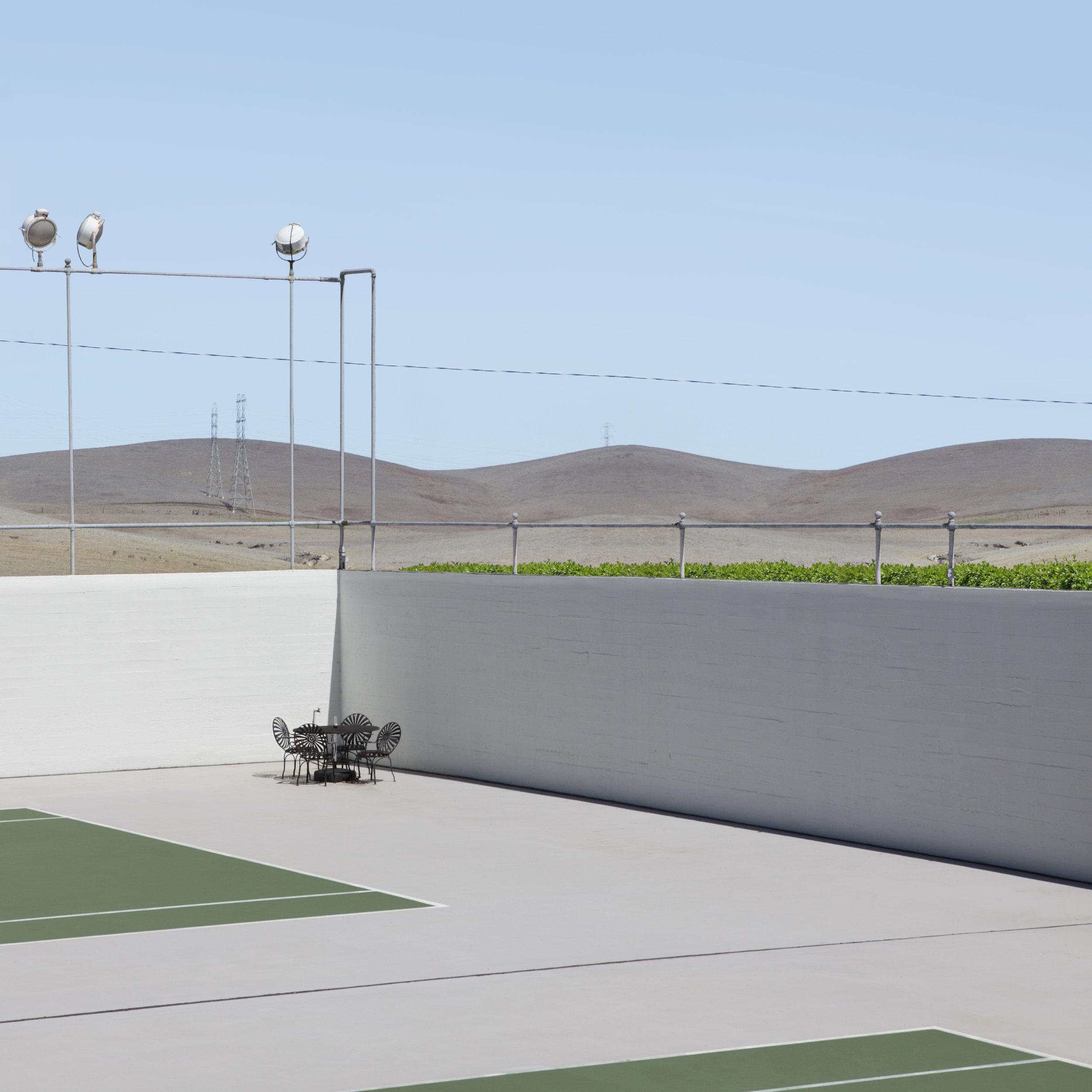 Tennis Court,2015  40 x 40 inches, 101,6 x 101,6 cm Ed. 1/7 +2 A.P. 30 x 30 inches, 76,2 x 76,2 cm Ed. 1/7 +2 A.P.