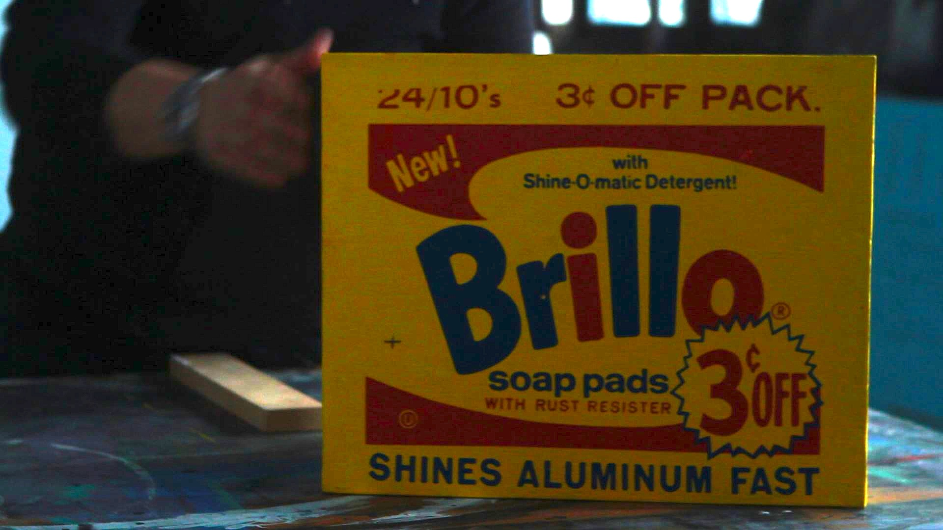 FEATURED IN IMAGE: Baby Lisanne Skyler on the Brillo Box, 1969. Courtesy of The Andy Warhol Foundation for the Visual Arts, Inc./Armaly Brands/Brillo Box Documentary LLC
