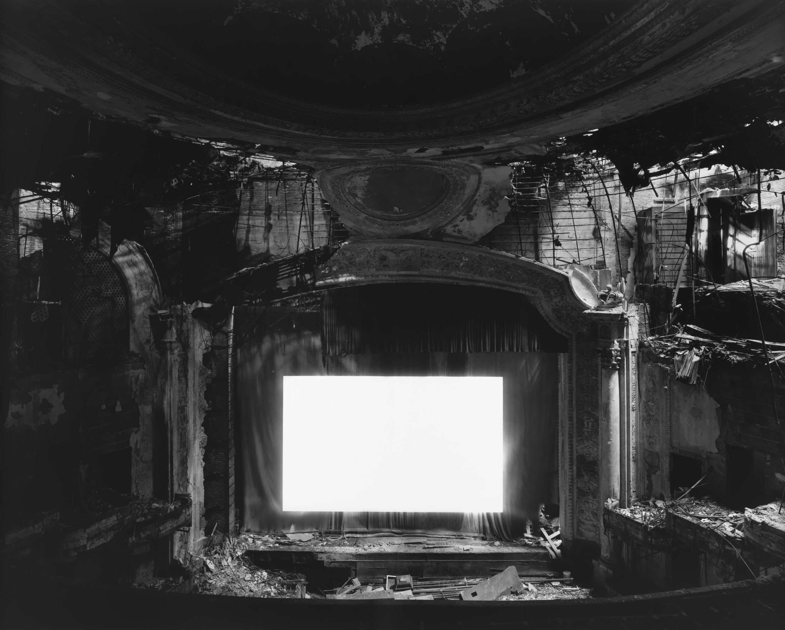 © Theaters  by Hiroshi Sugimoto, Paramount Theater, Newark, 2015.