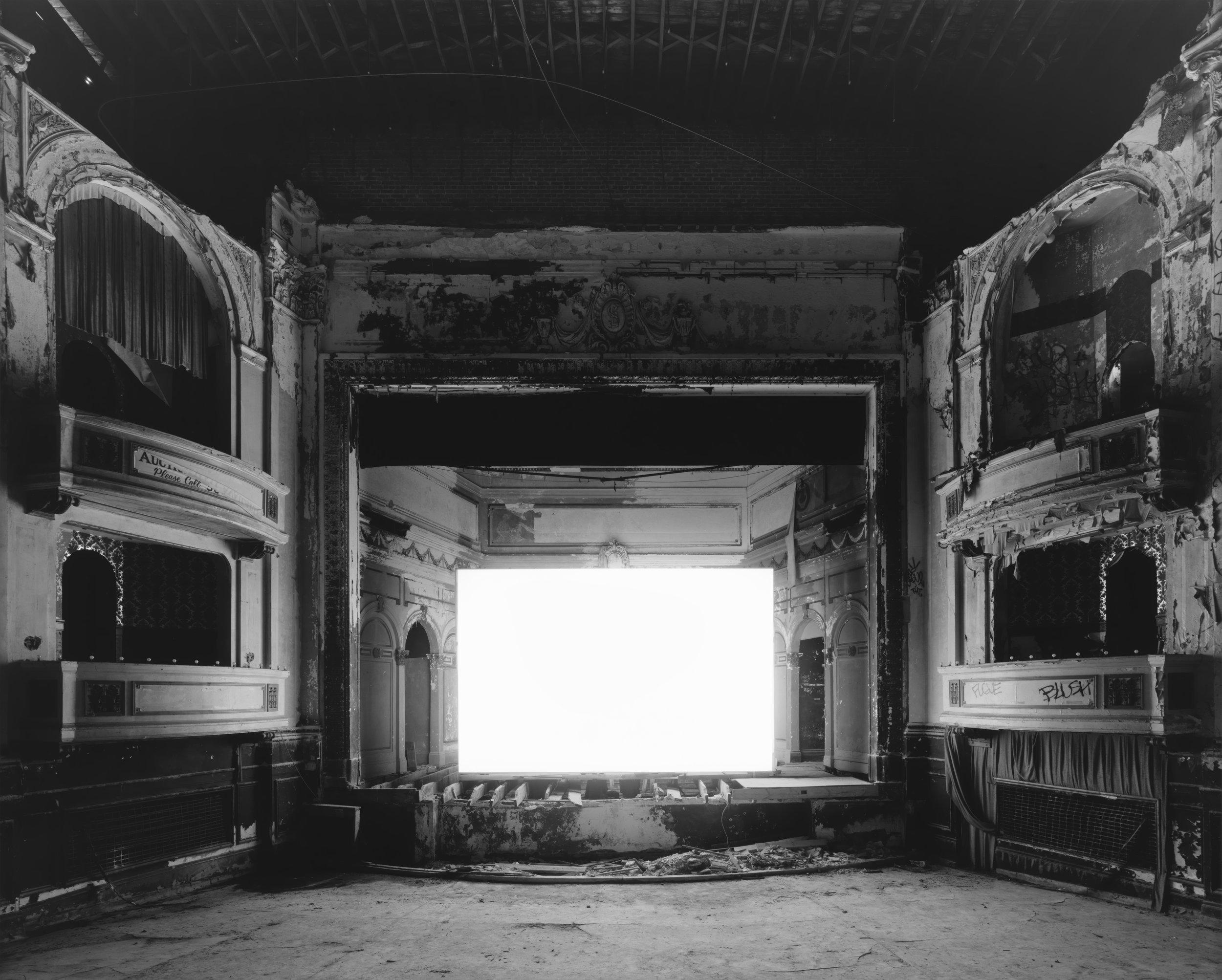 © Theaters by Hiroshi Sugimoto,Everett Square Theater, Boston, 2015