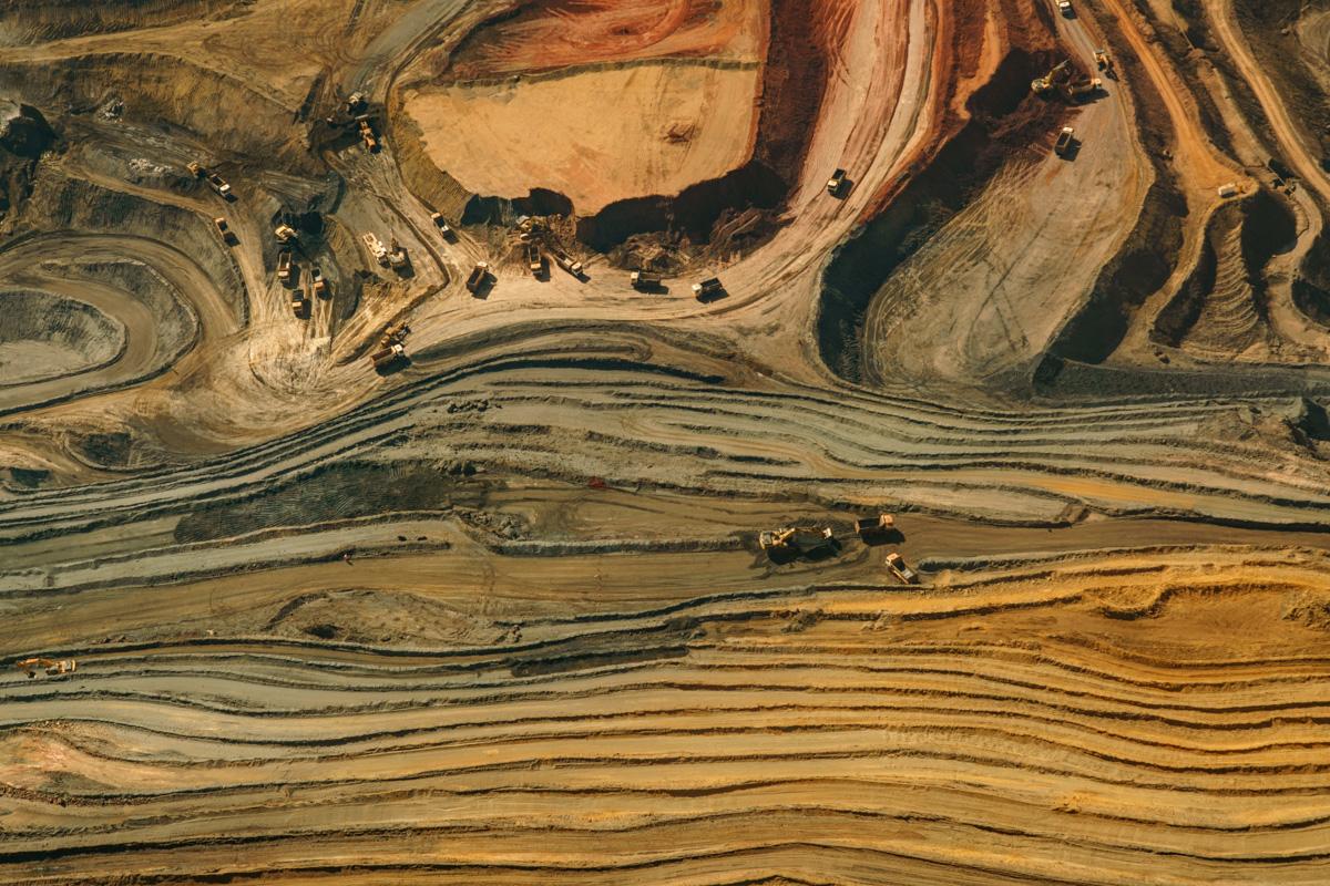 Oh Minas Gerais - New number 1 Aerial Photograph, July 2016. Dry season in Brazil. Photograph taken at Serra da Moeda, Minas Gerais. Iron Ore Mine in activity.