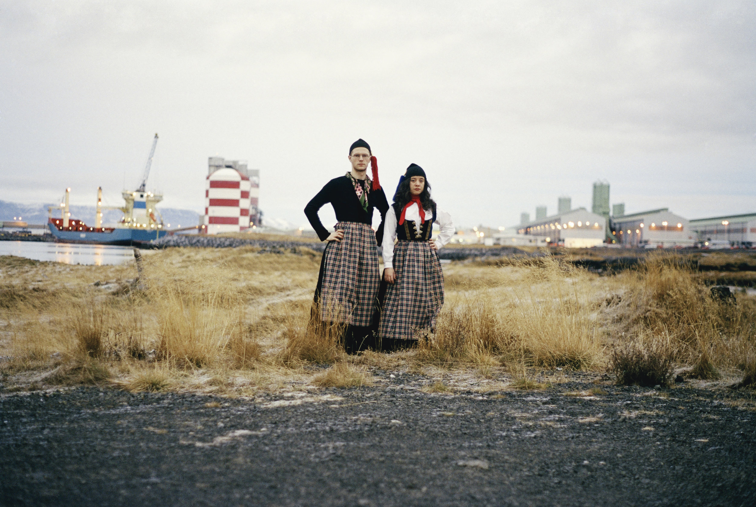 Libia Castro & Olafur Olafsson   Untitled (Portrait of the artists wearing the Icelandic national women's costume; Peysuföt and Upphlutur) , 2000/06