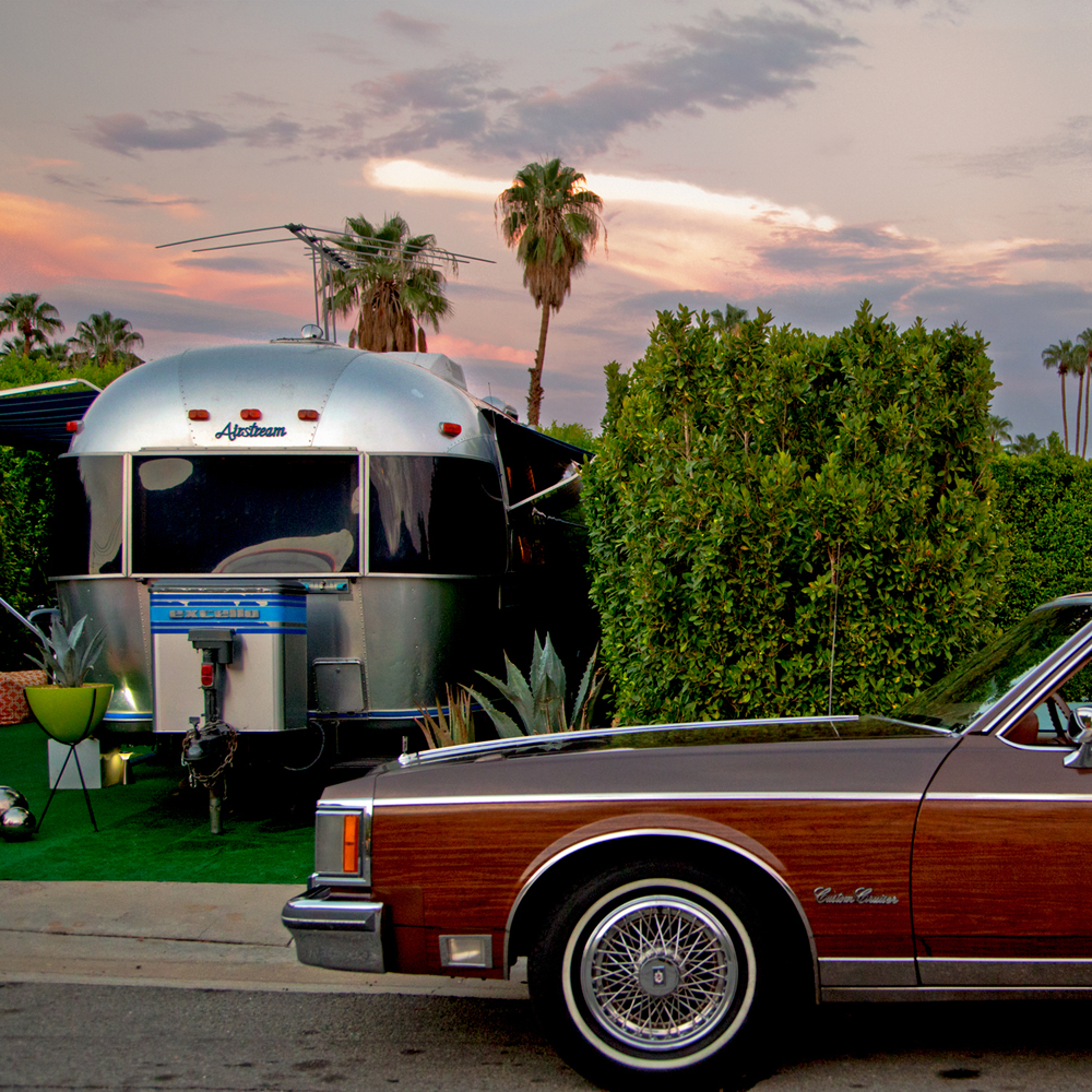 Airstream Sunset Whether in an architectural masterpiece or a trailer, anyone has access to The Good Life in Palm Springs ©Image and caption courtesy of Nancy Baron