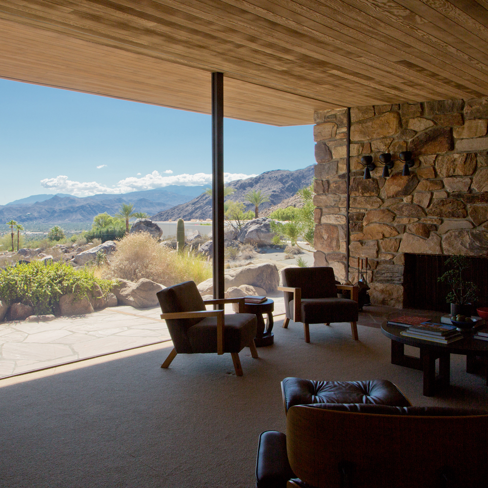 Edris With a View A view from the quietly elegant (Designated Class One Historic) Edris House, designed by architect E. Stewart Williams, and a classic example of mid century modern design. ©Image and caption courtesy of Nancy Baron
