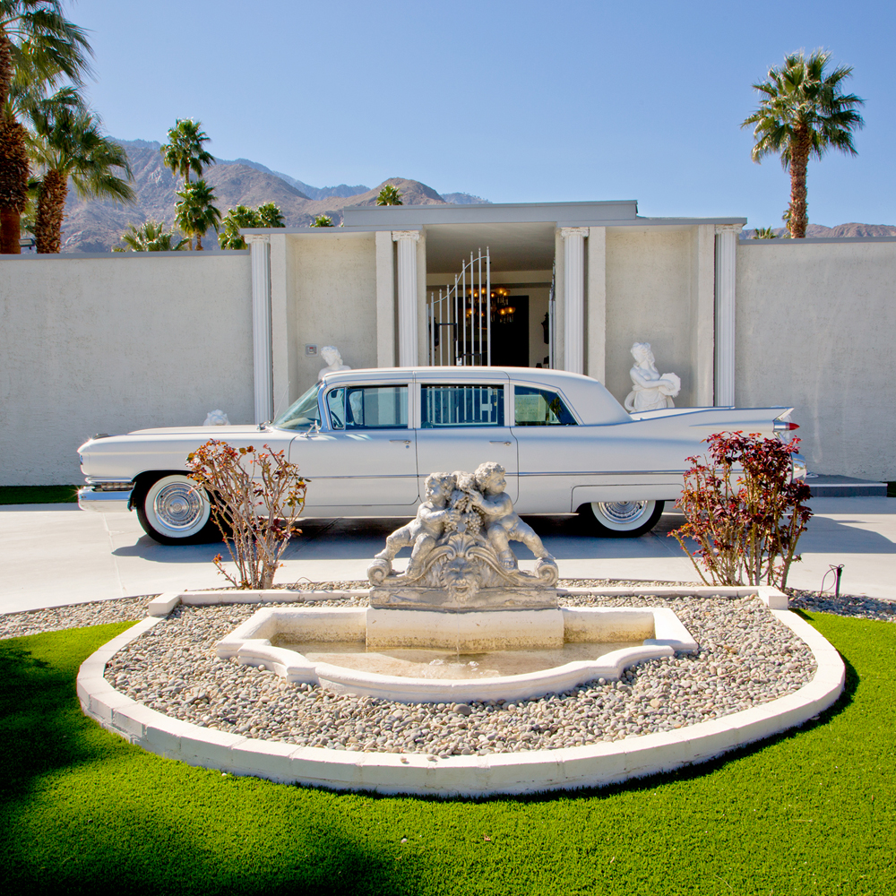 Piazza de Liberace This is one of several homes that Liberace owned in Palm Springs. During Modernism Week, vintage cars are often parked in front of matching houses that are featured on home tours. ©Image and caption courtesy of Nancy Baron